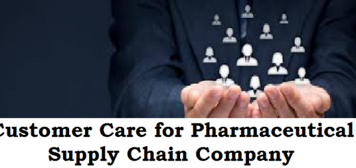 customer care for pharmaceutical supply chain company