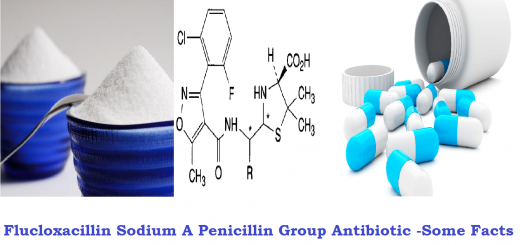 Flucloxacillin Sodium A Penicillin Group Antibiotic -Some Facts